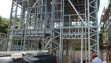 A agilidade na construção com steel frame